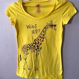 Yellow Giraffe Graphic Tee